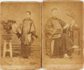 Photography:CDVs, Pair of Nineteenth-Century Cartes De Visites Depicting Chinese Subjects. [N.p., n.d., Circa 1870]....