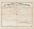 Autographs:Statesmen, [Alamo Defender]. Edward J. Davis Land Grant Signed as Governor ofTexas....