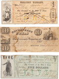 Miscellaneous, Government of Texas $10 Dollar Treasury Note.... (Total: 3 )