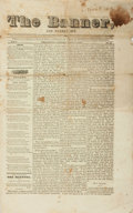 Books:Periodicals, [Newspapers]. The Banner, and Weekly Spy, Vol. I, No. 15.March 11, 1837. Philadelphia: Wieser & Shively, 1837....