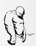 Original Comic Art:Sketches, Paolo Rivera - Fantastic Four The Thing Sketch Original Art(2005)....