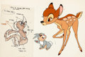 Animation Art:Color Model, Bambi Bambi, Thumper, and Flower Color Model Cel (WaltDisney, 1970s)....
