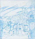 Animation Art:Production Drawing, Donald Duck Haunted House Concept Illustration Original Art(Walt Disney, 1980s)....
