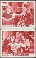 "Movie Posters:Crime, The Public Enemy (Warner Brothers, R-1954). Lobby Cards (2) (11"" X 14""). Crime.. ... (Total: 2 Items)"