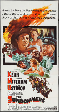 "The Sundowners (Warner Brothers, 1961). Three Sheet (41"" X 78.5""). Drama"