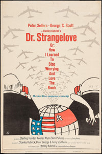 """Dr. Strangelove or: How I Learned to Stop Worrying and Love the Bomb (Columbia, 1964). Poster (40"""" X 60""""). Com..."""