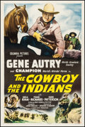 "Movie Posters:Western, The Cowboy and the Indians (Columbia, 1949). One Sheet (27"" X 41""). Western.. ..."