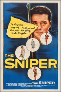 """The Sniper (Columbia, 1952). One Sheet (27"""" X 41""""). Crime"""