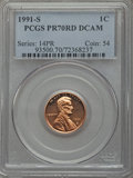 Proof Lincoln Cents, 1991-S 1C PR70 Red Deep Cameo PCGS. PCGS Population (274). NGC Census: (114). Numismedia Wsl. Price for problem free NGC/P...