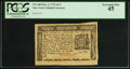 Colonial Notes:New York, New York March 5, 1776 $1/3 PCGS Extremely Fine 45.. ...