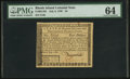 Colonial Notes:Rhode Island, Rhode Island July 2, 1780 $4 PMG Choice Uncirculated 64.. ...