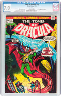 Bronze Age (1970-1979):Horror, Tomb of Dracula #12 (Marvel, 1973) CGC FN/VF 7.0 White pages....