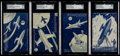 Non-Sport Cards:Sets, Scarce 1950's Exhibit Space Exploration Glow-In-The-Dark SGCComplete Set (4). ...