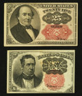 Fractional Currency:Fifth Issue, Fifth Issue 10¢ and 25¢ Fractionals.. ... (Total: 2 notes)
