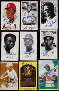 Baseball Cards:Lots, Lou Brock Signed Cards Lot of 65 different cards/postcards. ...