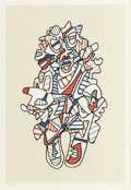 Prints:Contemporary, Jean Dubuffet (French, 1901-1985). Objectador, fromPrésences fugaces, 1973. Screenprint in colors on paper.19-3/4 ...