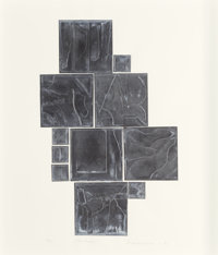 Louise Nevelson (American, 1899-1988) Sky Garden, 1971 Lead intaglio relief on paper 29-3/4 x 24-