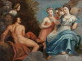 Paintings, Manner of Anton Tischbein. Juno and Vulcan. Oil on canvas. 25-1/4 x 33-3/4 inches (64.1 x 85.7 cm). Bears signature lowe...