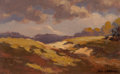 Fine Art - Painting, American:Modern  (1900 1949)  , Arthur Clifton Goodwin (American, 1864-1929). Rolling Hills(double-sided work). Oil on canvas. 7-1/4 x 11-1/4 inches (1...