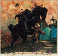 """Memorabilia:Poster, Stephen Hickman """"The Black Rider"""" Signed and Numbered Poster Print#320/400 (1980)...."""
