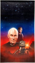 "Original Comic Art:Covers, Keith Birdsong Star Trek: The Next Generation #32 ""Requiem""Captain Picard Cover Painting Original Art (Pocket Boo..."