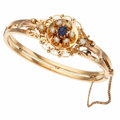 Estate Jewelry:Bracelets, Antique Sapphire, Cultured Pearl, Gold Bangle. ...