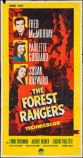 "Movie Posters:Action, The Forest Rangers (Paramount, R-1958). Three Sheet (41"" X 78.5"").Action.. ..."