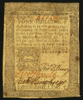 Colonial Notes:Pennsylvania, Pennsylvania October 25, 1775 1s Very Fine.. ...
