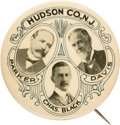 "Political:Pinback Buttons (1896-present), Parker & Davis (and Black): A Very Rare and Important 2¼""Trigate Button from 1904...."