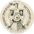 """Political:Pinback Buttons (1896-present), Roosevelt & Fairbanks: The 1¾"""" """"20th Century Club"""" Jugate, One of the Top Designs from the 1904 Election...."""