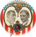 "Political:Pinback Buttons (1896-present), Wilson & Marshall: A Colorful and Extremely Rare 7/8"" Jugate byAmerican Artworks...."
