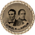 Political:Pinback Buttons (1896-present), Lincoln & Hamlin: The First Photographic Jugate PoliticalPin....