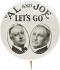 "Political:Pinback Buttons (1896-present), Smith & Robinson: Another Classic, the 1¾"" ""Al and Joe Let'sGo"" Jugate...."