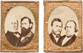 Political:Pinback Buttons (1896-present), Grant & Wilson and Greeley & Brown: A Matched Pair of 1872Jugates.... (Total: 2 Items)