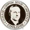 Political:Pinback Buttons (1896-present), Calvin Coolidge: One of the Rarest and Most Desirable PortraitButton Varieties....