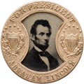 "Political:Ferrotypes / Photo Badges (pre-1896), Lincoln & Johnson: Sought-after ""Gault Frame"" 1864 CampaignFerrotype...."