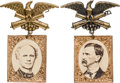 Political:Ferrotypes / Photo Badges (pre-1896), Seymour & Blair: Matching Albumen Badges.... (Total: 2 Items)