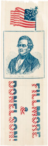 Political:Ribbons & Badges, Millard Fillmore: Graphic Red, White, and Blue Ribbon....