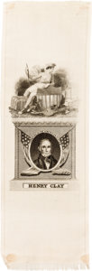 Political:Ribbons & Badges, Henry Clay: American System Ribbon....
