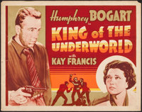"King of the Underworld (Warner Brothers, 1939). Other Company Half Sheet (22"" X 28""). Crime"