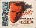 "Movie Posters:War, Passage to Marseille (Warner Brothers, 1944). Half Sheet (22"" X 28"") Style A. War.. ..."