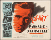 "Passage to Marseille (Warner Brothers, 1944). Half Sheet (22"" X 28"") Style A. War"