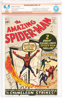The Amazing Spider-Man #1 Verified Signature Series - Trimmed (Marvel, 1963) CBCS Apparent FN+ 6.5 Moderate (A) White pa...