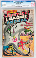 Silver Age (1956-1969):Superhero, The Brave and the Bold #28 Justice League of America (DC, 1960) CGCGD 2.0 Cream to off-white pages....