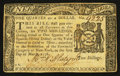 Colonial Notes:New York, New York March 5, 1776 $1/4 Very Fine.. ...