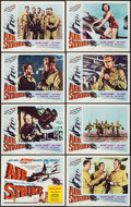 "Movie Posters:Action, Air Strike (Lippert, 1955). Lobby Card Set of 8 (11"" X 14"").Action.. ... (Total: 8 Items)"