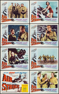 "Air Strike (Lippert, 1955). Lobby Card Set of 8 (11"" X 14""). Action. ... (Total: 8 Items)"