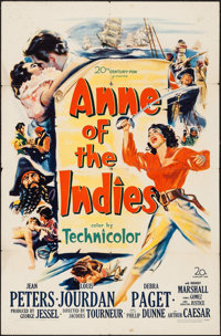 """Anne of the Indies (20th Century Fox, 1951). One Sheet (27"""" X 41""""). Action"""