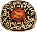 Football Collectibles:Others, 1986 Oklahoma Sooners Orange Bowl Ring....