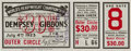 Boxing Collectibles:Memorabilia, 1923 Jack Dempsey vs. Tom Gibbons Full Ticket....